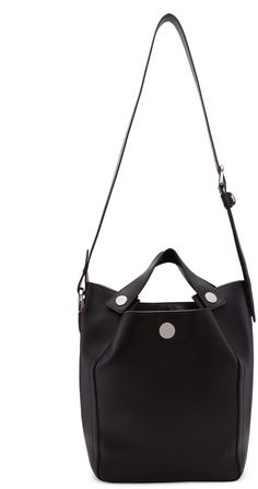 3.1 PHILLIP LIM Black Large Dolly Tote. #3.1philliplim #bags #shoulder bags #hand bags #leather #tote #lining #