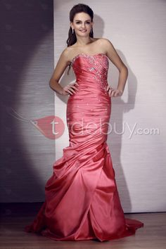 Elegant Strapless Floor-length Evening/Pageant Dress