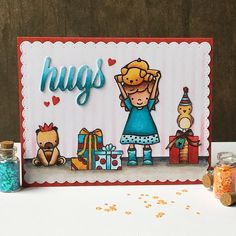 Combining several #neatandtangled stamp sets for this birthday card. Wishing you all a great weekend!! #card #cardmaking #handmadecards #homemadecard #papercraft #papercrafts #birthdaycard #mftdies #mftstencil #kaart #kaartje #verjaardagskaart #copic #copicmarkers #distress #distressink #papercrafting