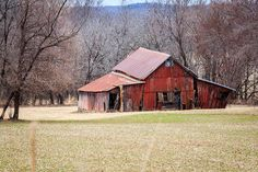 red barn in the valley