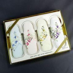 Ladies Boxed Handkerchiefs Set of 4 Vintage by ClarasChicBoutique