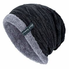 official photos 2ebfd 431ac YSense Mens Winter Warm Slouchy Beanie Oversized Baggy Hat Fleece Lined Knit  Sku  fashion