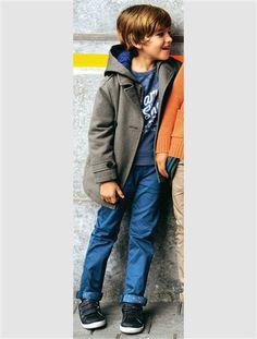Cabanjacke mit wetterfester Kapuze.    #vertbaudet #Herbst #Winter #2015 #Kinderkleidung #Jungenmode