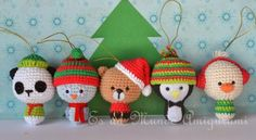 Christmas amigurumi toys. (Inspiration).