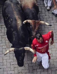 The Running of the Bulls, Pamplona, Spain