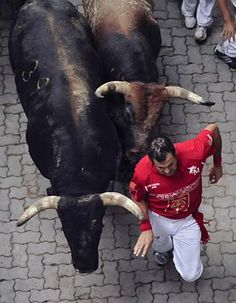 The Running of the Bulls, Pamplona, Spain