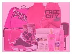 """""""💖💞PINK OUT💞💖"""" by xqueen-of-anglesx ❤ liked on Polyvore featuring Victoria's Secret, WearAll, FreeCity, Sleep In Rollers, Incase, Beats by Dr. Dre, HUF and NIKE"""