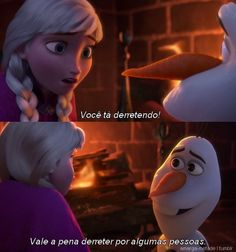 One of my favorite parts of the whole movie.Olaf made me cry when he said that to Anna. I love Olaf sooooo much. Walt Disney, Disney Films, Disney And Dreamworks, Disney Love, Disney Magic, Disney Frozen, Disney Pixar, Olaf Frozen, Frozen Pics