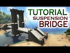 Finally a new Timelapse video. This time I show you a Timelapse of building a Suspension Bridge in ARK Survival Evolved. It was hard work building this bridg. Ark Survival Evolved Tips, Survival Prepping, Suspension Cable, Suspension Bridge, Ark Video Game, Video Games, Ark Ps4, Prepper Supplies, Base Building