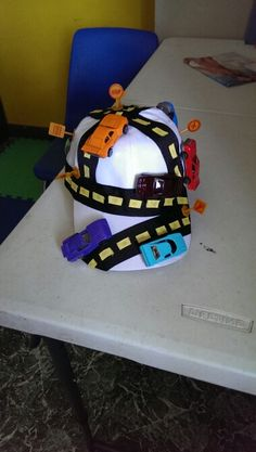 Crazy hat day for my son hope he likes it!