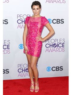 Lea Michele in Elie Saab #PeoplesChoice