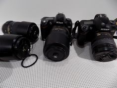 Nikon & Cameras with VR & 4 Nikon Lenses - Camera Zoom Lens, Nikon Camera Lenses, Nikon D700, Reflex Camera, Pictures Of Cameras, Aperture And Shutter Speed, Wide Angle Lens, Camera Settings, Camera Accessories