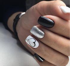 nails one color gel / nails one color ; nails one color simple ; nails one color acrylic ; nails one color summer ; nails one color winter ; nails one color short ; nails one color gel ; nails one color matte How To Do Nails, My Nails, Glitter Nails, Polish Nails, Stiletto Nails, White Shellac Nails, Gel Toe Nails, Black Gel Nails, Black Manicure