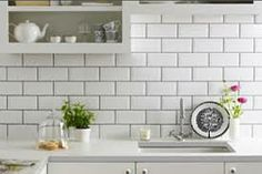 metro kitchen tiles with dark grouting - Google Search