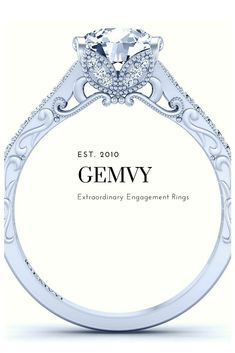 4fb2bcb45f8 Round Pave Diamond Engagement Ring 1460-V2