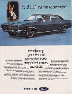 1974 Ford LTD P5 Ad - Australia | Covers the 1974 Ford LTD t… | Flickr
