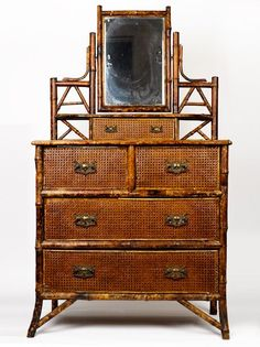 Victorian tortoiseshell bamboo chest of drawers with swivel… - Chests of Drawers - Furniture - Carter's Price Guide to Antiques and Collectables