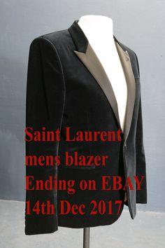 Men's Saint Laurent black velvet blazer 40 chest Selling on EBAY. Ending 14th Dec 2017.