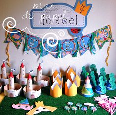MAR DE PAPEL: El cumple4 de Joel: Ben & Holly 6th Birthday Parties, Baby First Birthday, Birthday Party Decorations, Party Themes, Ben N Holly, Ben And Holly Cake, Daisy Party, Pig Party, Ben And Holly Party Ideas