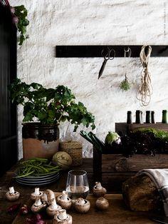 IVRIG glas, DINERA assiett, LJUSNAN burk med lock, KNAGGLIG låda, KUBBIS hängare.