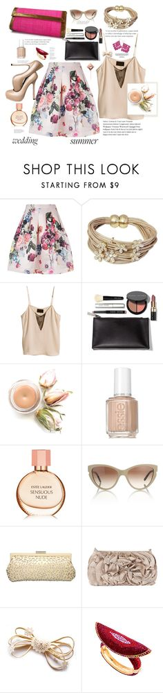 """""""Sensuous nude"""" by marleen1978 ❤ liked on Polyvore featuring Ted Baker, Saachi, Bobbi Brown Cosmetics, Essie, Estée Lauder, STELLA McCARTNEY, Industrie, Dune, Yves Saint Laurent and Dorothy Perkins"""