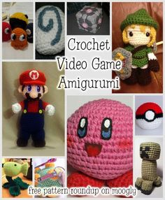 Crochet Video Game Amigurumi - free patterns from 10 favorite games! Roundup on Moogly! Toys Patterns awesome All Your Crochet Are Belong to Us – Video Game Amigurumi Patterns! Crochet Mario, Crochet Geek, Cute Crochet, Crochet Crafts, Crotchet, Beginner Crochet, Crochet For Beginners, Crochet Patterns Amigurumi, Amigurumi Doll