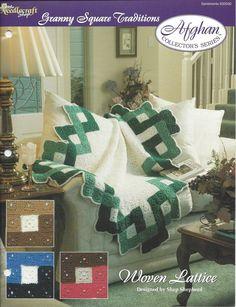 🎨 Criações itens decorativos do Técido Malha Afegão Colecionador -  /  🎨 Woven Lattice Afghan Collector's Knacks Creations -