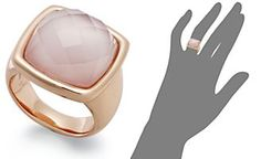Bronzarte 18k Rose Gold over Bronze Ring, Rose Quartz (8-3/8 ct. t.w.) and Pink Mother of Pearl Ring