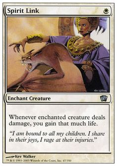 Spirit Link - Enchant Creature - Sun - White - 8TH Edition - Magic The Gathering Trading Card