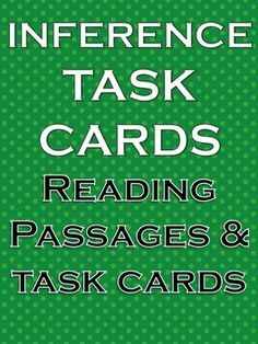 Inference Task Cards - Great Resource!