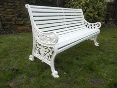 Victorian cast iron bench refurbishment.