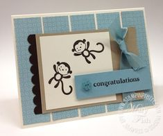 Scrapbooking, Scrapbook Cards, Card Making Inspiration, Making Ideas, Very Cute Baby, Mary Fish, Baby Shower Cards, Congratulations Card, Cards For Friends