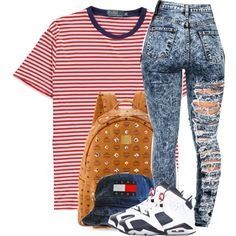 Untitled #143 by uniquee-beauty on Polyvore featuring NIKE, MCM and Polo Ralph Lauren