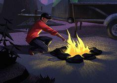 Camper Illustration by Brian Miller, via Behance