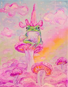 Frog Mushroom Prints