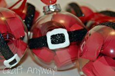 Craft Anyway!: Santa Belly Ornaments