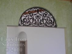 faux wrought iron insert for upper windows
