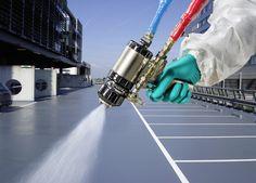 Polyurea hotspray waterproofing, CE approved, Environmentally friendly, 100% waterproof, no joins or seals, very versatile  http://sublimecoatings.com/waterproofing/