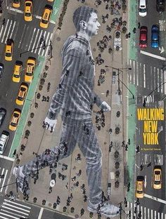 """Walking New York"" image by JR in NYC, Times Square, 4/15 (LP)"