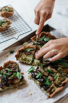 Buckwheat Veggie Pesto Pie -buckwheat pastry crust is just buckwheat flour, coconut oil and water.