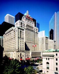 A Toronto landmark, the Fairmont Royal York Hotel.