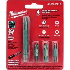 Bit reemplazo Set (4 PC) | Herramienta de Milwaukee