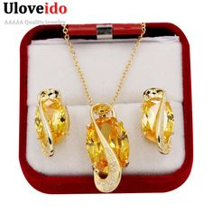 Find More Jewelry Sets Information about Uloveido African Beads Gold Plated CZ Diamond Yellow Crystal Bridal Jewelry Sets Necklace Pendant Earing Set for Women Gift Y190,High Quality set prints,China set rod Suppliers, Cheap set pliers from ULOVE Fashion Jewelry Official Store on Aliexpress.com