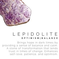LEPIDOLITE Stone meaning, crystal guide, volerra