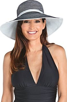 Coolibar UPF 50+ Women s Ribbon Hat – Sun Protective Review Wide-brim Hat 72b480ef4187