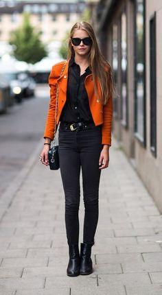 All Black + Bright Moto Jacket