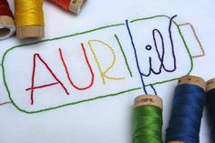 """Aurifloss went along for the ride with Kim from My Go-Go Life on a beach vacation. """"I decided it would be the perfect opportunity to try some embroidery with the new Aurifil floss or Aurifloss. Six strands of wonderful cotton that works beautifully for any hand stitching project and so many colors on the sweetest wooden spools.""""  To see more visit http://gogokim.blogspot.com/2013/07/vacation-is-now-over.html"""