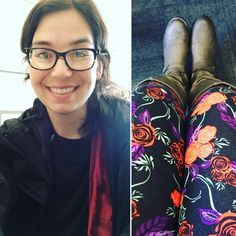 lularoe floral leggings with boots