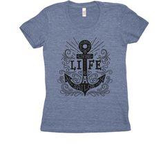 Tshirt Living life as a sailor Nautical Clothing, Nautical Outfits, Sailor, Mens Tops, T Shirt, Life, Clothes, Fashion, Hunters