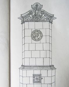 My sketch of a baroque stove